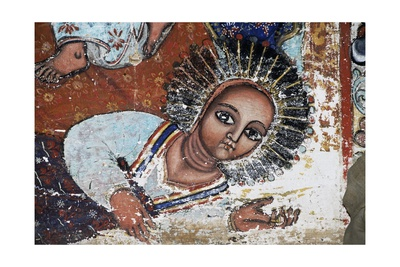 Empress Mentewab, Detail, Fresco, Church of Narga Selassie Giclee Print