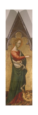 Polyptych with St. Catherine of Alessandria Giclée-tryk af Giovanni di Paolo