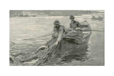 Netting Salmon on the Fraser River, British Columbia Giclee Print by William Rainey