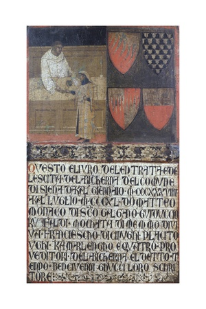 Tax Collector with Taxpayer, 1340 Giclee Print by Ambrogio Lorenzetti