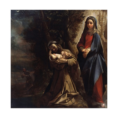 Vision of St Anthony of Padua Giclée-tryk af Ludovico Carracci