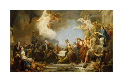 Allegory of Declaration of Human Rights, 1790 Giclee Print by Jean-Baptiste Regnault