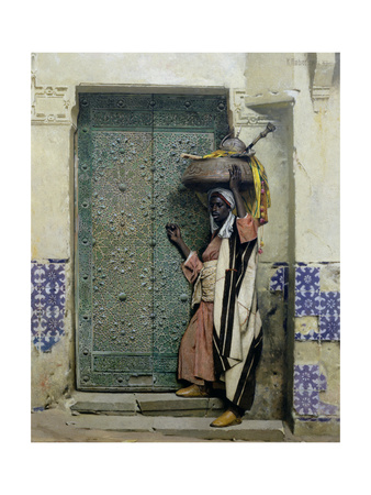 An Eastern Doorway: at the Moslem Chief's Door, 1887 Giclee Print by Raphael Von Ambros
