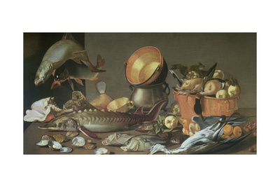 A Trompe L'Oeil Letter Rack with Letters and a Medallion Giclee Print by Jean Valette-Penot