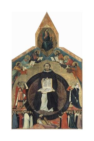 Apotheosis of St Thomas Aquinas Giclee Print by Francesco Traini