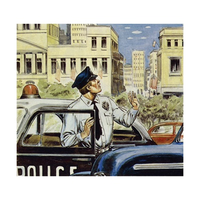 Portland Was Pestered for a Whole Day in 1947 Giclee Print by Alberto Salinas