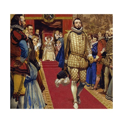 Elizabeth I Sentenced Him to Imprisonment for Secretly Marrying Giclee Print by Alberto Salinas