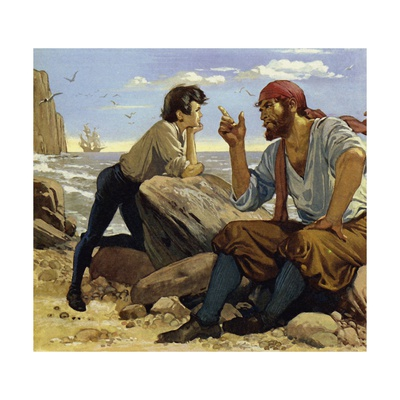 As a Boy, Walter Raleigh Listened to Many Exciting Tales of the High Seas Giclee Print by Alberto Salinas