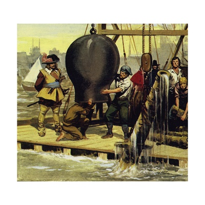Thirty-Five Years Later, a Bronze Canon Was Raised from the Wreckage Giclee Print by Alberto Salinas