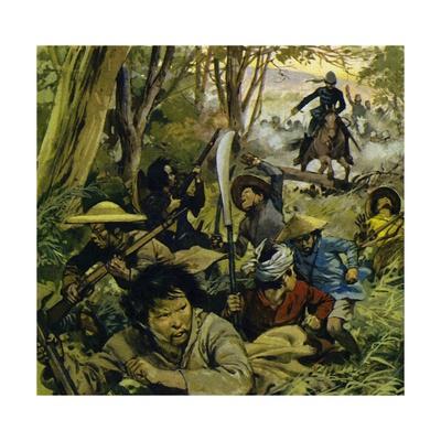 Gordon Was Sent to China, Where Guerilla Warfare Was a Daily Risk Giclee Print by Alberto Salinas