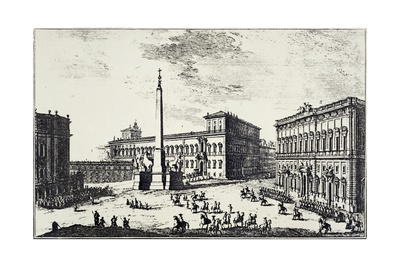 The Papal Palace on Quirinale Hill Giclee Print by Giuseppe Vasi