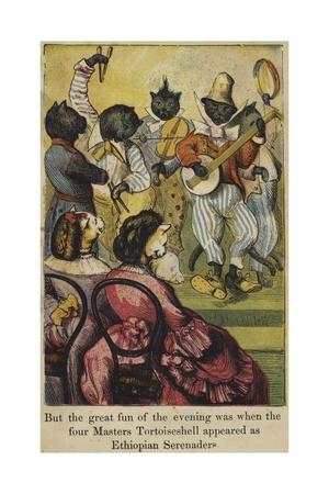 Masters Tortoiseshell Appear as Ethiopian Serenaders Giclee Print