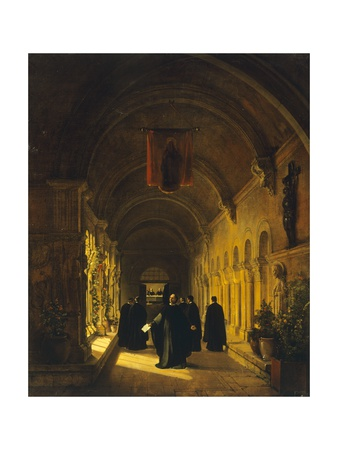 Abelard in Cloister, 1820-1830 Giclee Print by Francois-Marius Granet