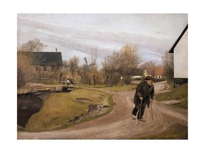 Jutland Village in Spring, 1892 Gicléetryck av Laurits Andersen Ring