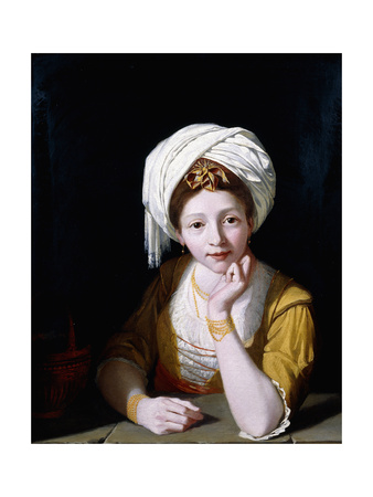 Portrait of a Lady as the Cumaean Sibyl, 1778-1789 Giclee Print by Robert Home