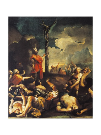 Moses and Bronze Serpent, 1737 Giclee Print by Giuseppe Maria Crespi