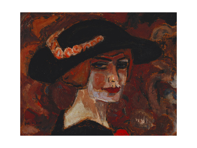 Young Woman with a Hat; Jeune Fille Au Chapeau, 1917 Giclee Print by Gustave de Smet