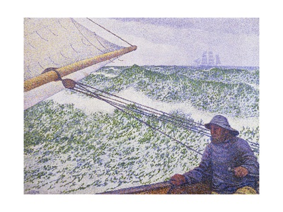 Man at the Helm, Portrait of Signac, 1892 Giclee Print by Theo van Rysselberghe