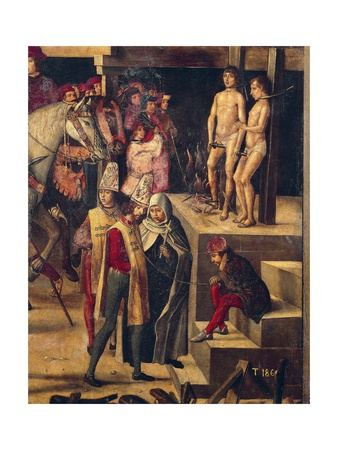 Autodafe Chaired by San Domenico Guzman Giclée-tryk af Pedro Berruguete