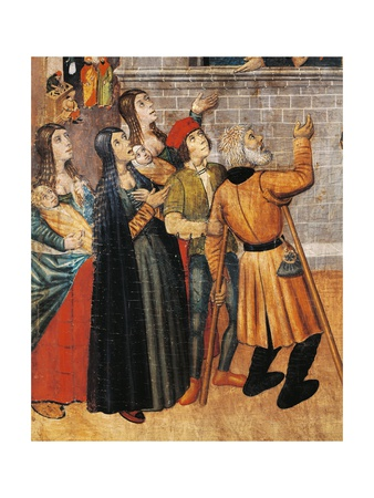 Women and Beggars in Street Giclee Print by Pedro Garcia De Benabarre