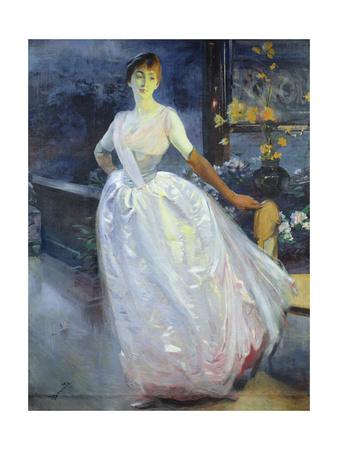 Portrait of the Artist's Wife, Madame Roger Jourdain, C.1886 Giclee Print by Paul Albert Besnard