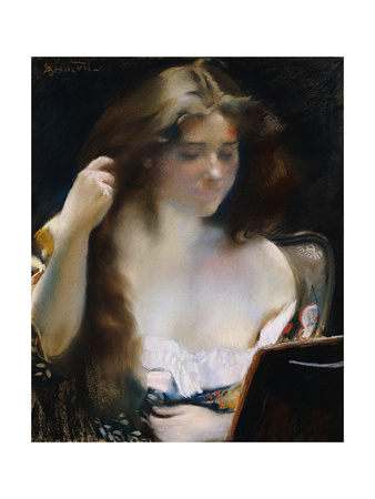 Young Woman at Her Toilet; Jeune Femme a Sa Toilette Giclee Print by Paul Albert Besnard
