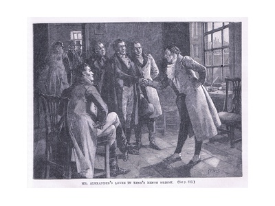Mr Alexander's Levee in the Kings Bench Prison AD 1830 Giclee Print by Henry Gillard Glindoni