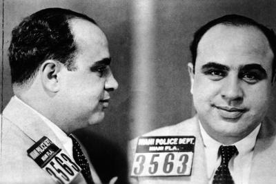 Miami Police Department Mug Shot of Al Capone, 1930 Photographic Print