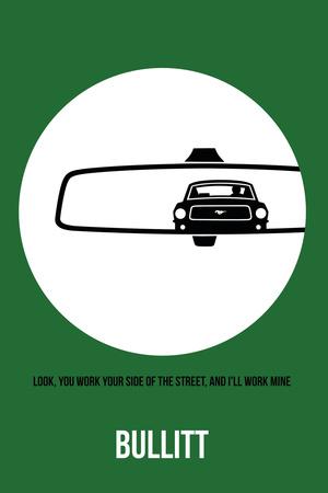 Bullitt Poster 2 Plastic Sign by Anna Malkin