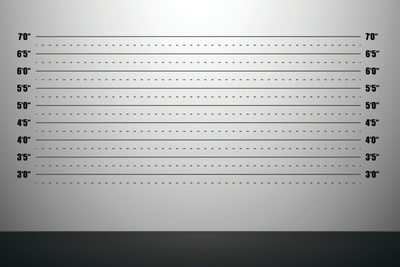 Detailed Illustration Of A Mugshot Background With Inch Scales Plastic Sign by  unkreatives