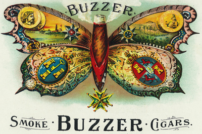 Buzzer Brand Cigar Inner Box Label Plastic Sign by  Lantern Press