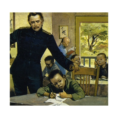 Gordon Helped Impoverished Children, Teaching Them in His House in Gravesend Giclee Print by Alberto Salinas