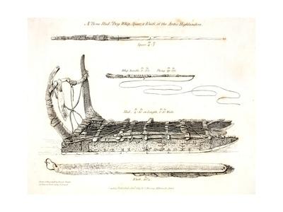 A Bone Sled Giclee Print by Daniel Havell