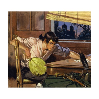In Debt and Unhappy, Clive Tried to Commit Suicide - But the Gun Did Not Work Giclee Print by Alberto Salinas