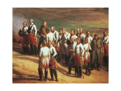 Ulm, October 20, 1805, Austrian General Karl Mack and His Staff Surrendering to Napoleon Giclee Print by Charles Thevenin