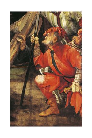 Armed Thug, Ca 1523-1525, Detail from Ascent to Calvary of Tauberbischofsheim Altarpiece Giclee Print by Matthias Grünewald