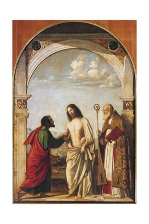 Doubting Thomas with Bishop Magno, 1505 Giclee Print by Giovanni Battista Cima Da Conegliano