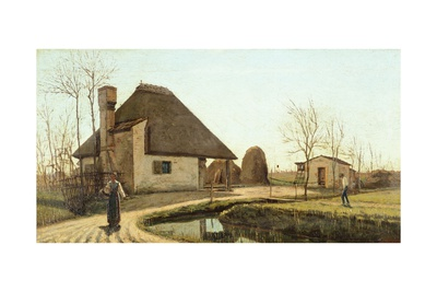 Treviso Countryside, on the Back of on the Sile, 1850 Giclee Print by Guglielmo Ciardi