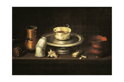 Still Life with Cup of Chocolate or Breakfast with Chocolate, 1640 Giclee Print by Juan De Zurbaran