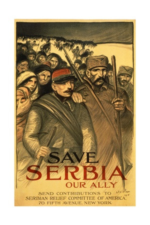 Save Serbia Our Ally, Send Contributions to Serbian Relief Committee of America, Pub. France, 1916 Giclee Print by Théophile Alexandre Steinlen