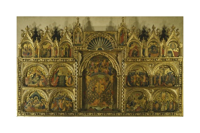 Polyptych of the Coronation of the Virgin Mary, Stories of Jesus and Stories of St Francis Giclee Print by Paolo Veneziano