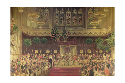 Coronation Luncheon for King George V and Queen Mary in Guildhall, 29th June 1911, 1914-22 Giclee Print by Solomon Joseph Solomon