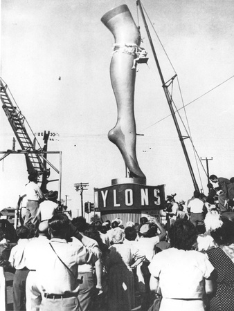 A Two-Ton Model of Actress Marie Wilson's Leg, Produced to Advertise a Los Angeles Hosiery Shop Photographic Print