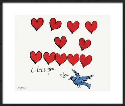 I Love You So, c. 1958 Framed Giclee Print by Andy Warhol