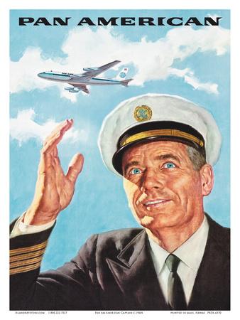 Pan Am American Captain Posters