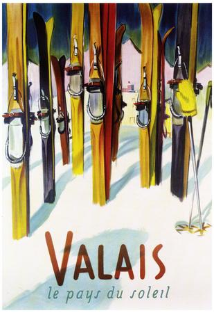 Valais, Switzerland - The Land of Sunshine Posters