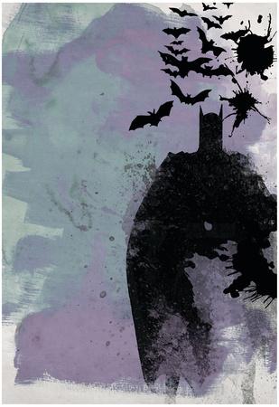 Batman Watercolor Posters by Anna Malkin