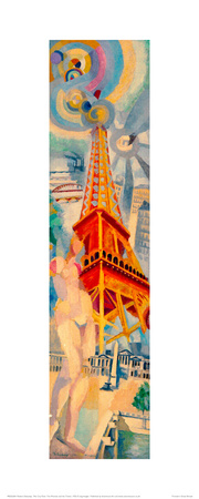 The City Paris. The Woman and the Tower, 1925 Giclee Print by Robert Delaunay