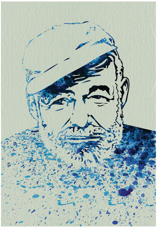 Hemingway Watercolor 1 Posters by Anna Malkin