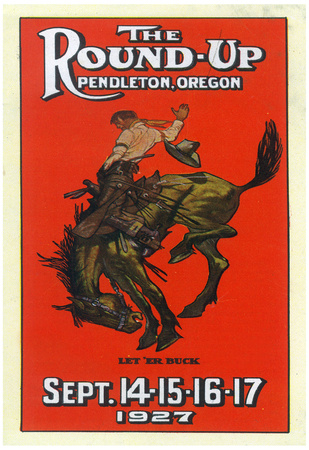 Advertisement for the Round-Up - Pendleton, OR Posters